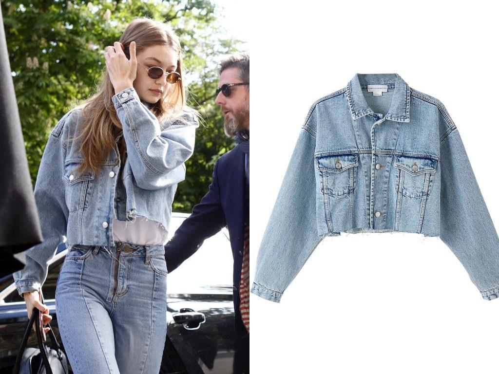 Джиджи Хадид. Куртка,  Elizabeth Sulcer X Miss Sixty Cropped Denim Jacket (200$ - ок. 12200 руб.)