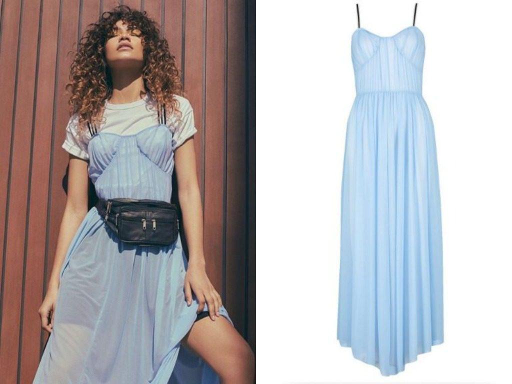Зендая. Платье, Sports Tape Corset Maxi Dress (29$ - ок. 1800 руб.)