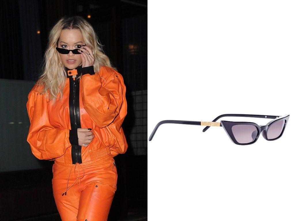 Рита Ора. Очки, Poppy Lissiman Le Skinny Sunglasses (98$ - ок. 6000 руб.)