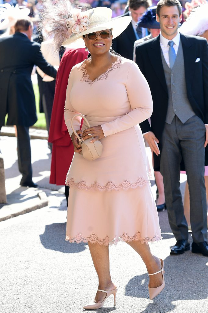 Royal wedding. Oprah Winfrey arrives at St George's Chapel at Windsor Castle for the wedding of Meghan Markle and Prince Harry. Picture date: Saturday May 19, 2018. See PA story ROYAL Wedding. Photo credit should read: Ian West/PA Wire URN:36579911