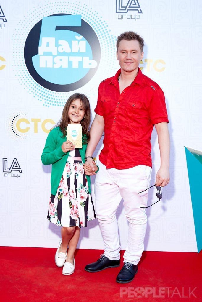 Антон Зацепин с дочкой  Александрой-Мартой