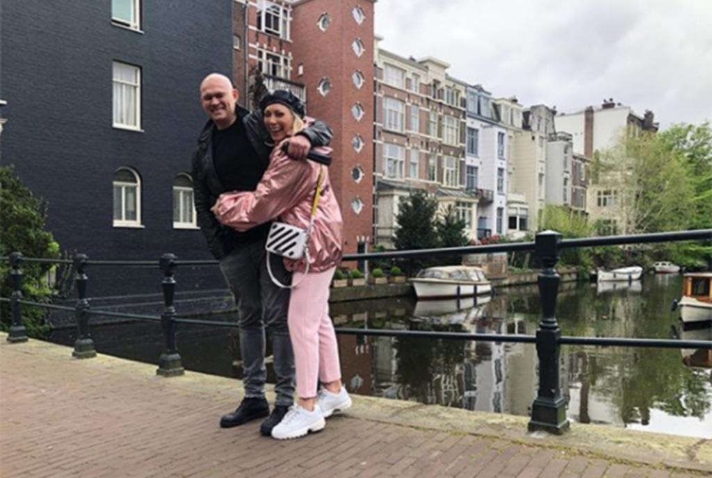 Аврора с мужем в Амстердаме