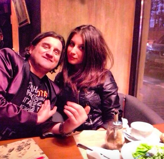 Отар Кушанашвили с дочерью Дарико