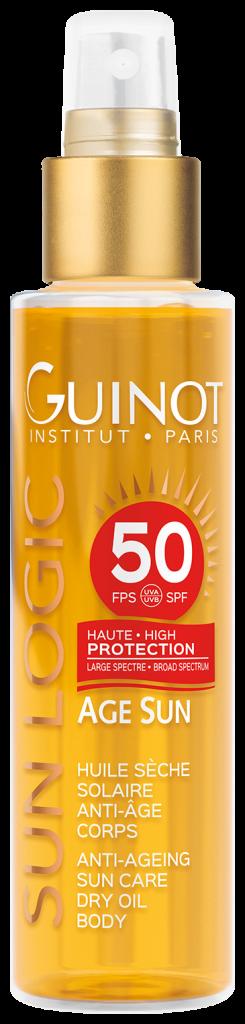Антивозрастное сухое масло для тела с высокой степенью защиты spf 50 Sun Logic Guinot обеспечивает высокую степень защиты от солнца и способствует появлению золотистого сияющего загара. Цена по запросу