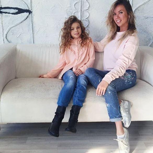 Оксана Пономаренко с дочкой