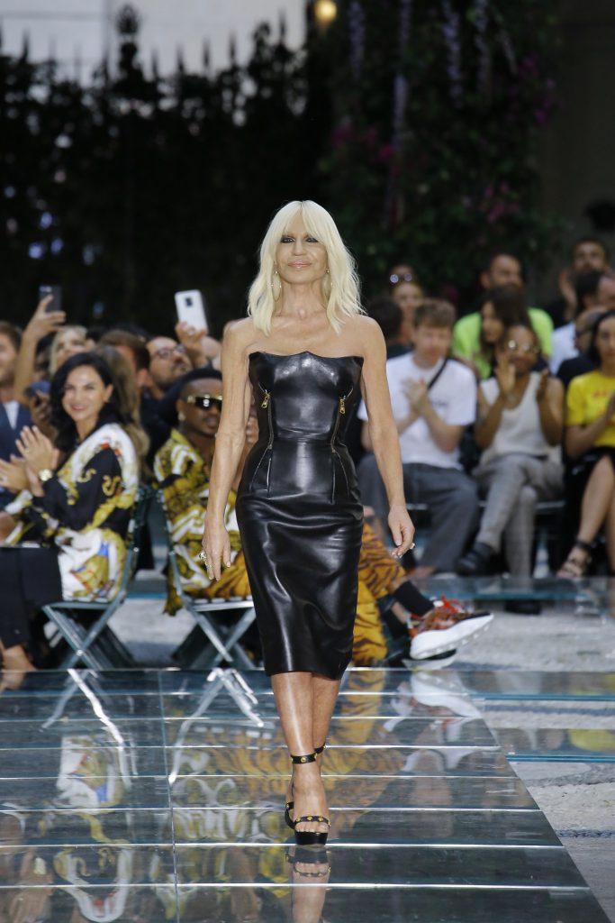 Донателла Версаче на показе Versace