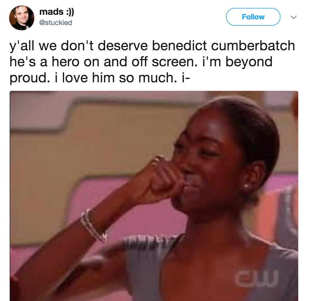 Бенедикт - настоящий герой и на экране, и в жизни. Я так им горжусь!
