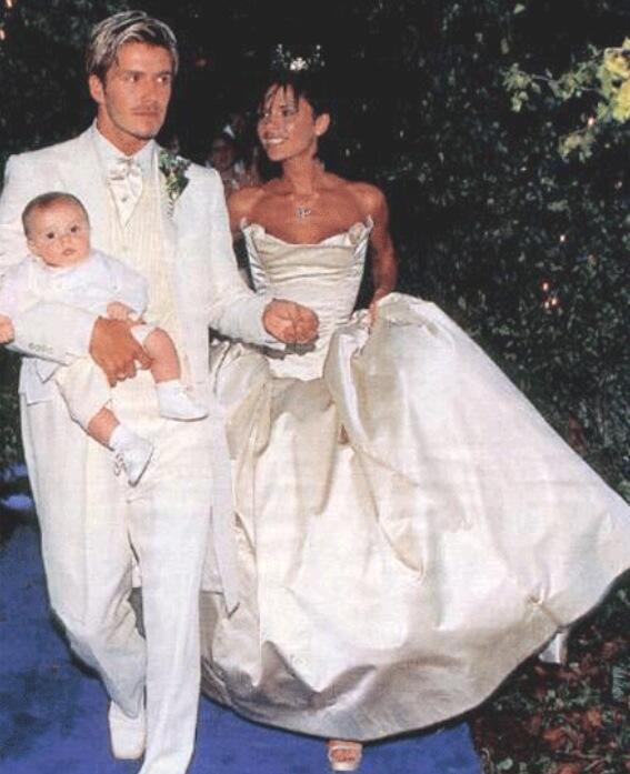 Свадьба Дэвида и Виктории Бекхэм, 1999