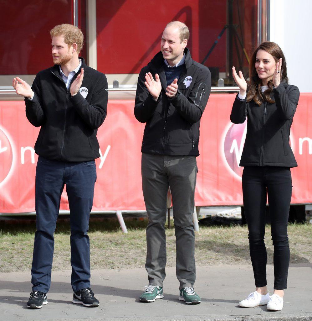 Принц Гарри, принц Уильям и Кейт Миддлтон