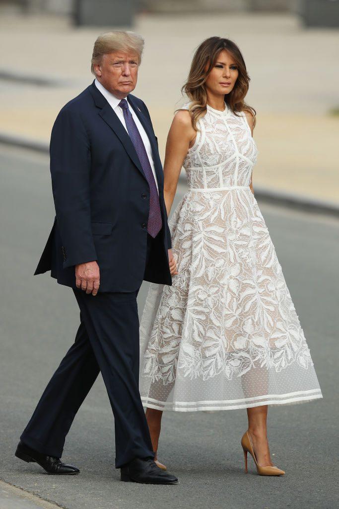 Дональд и Мелания Трамп на саммите НАТО