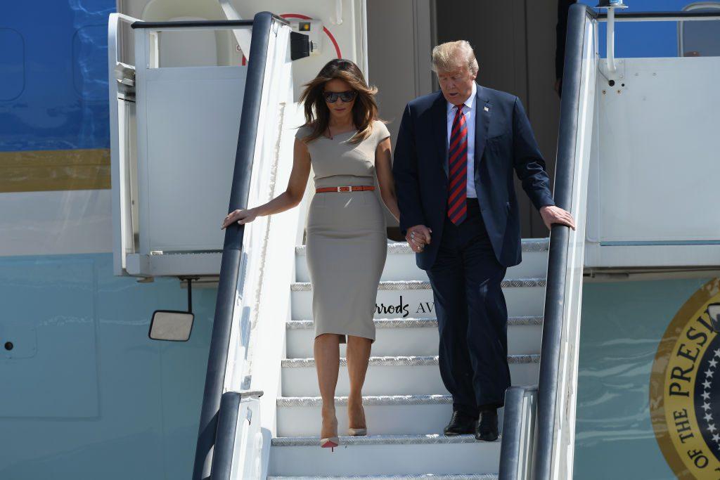Мелания и Дональд Трамп в Лондоне
