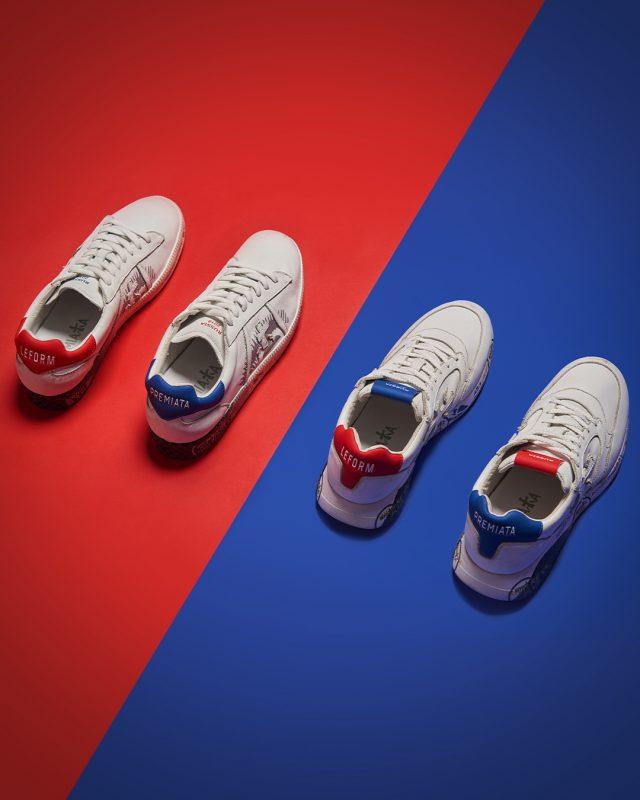 b14f318a В самый разгар Чемпионата мира по футболу Premiata выпустили капсульную  коллекцию с бутиком Leform – две модели кроссовок в цветах российского  флага.