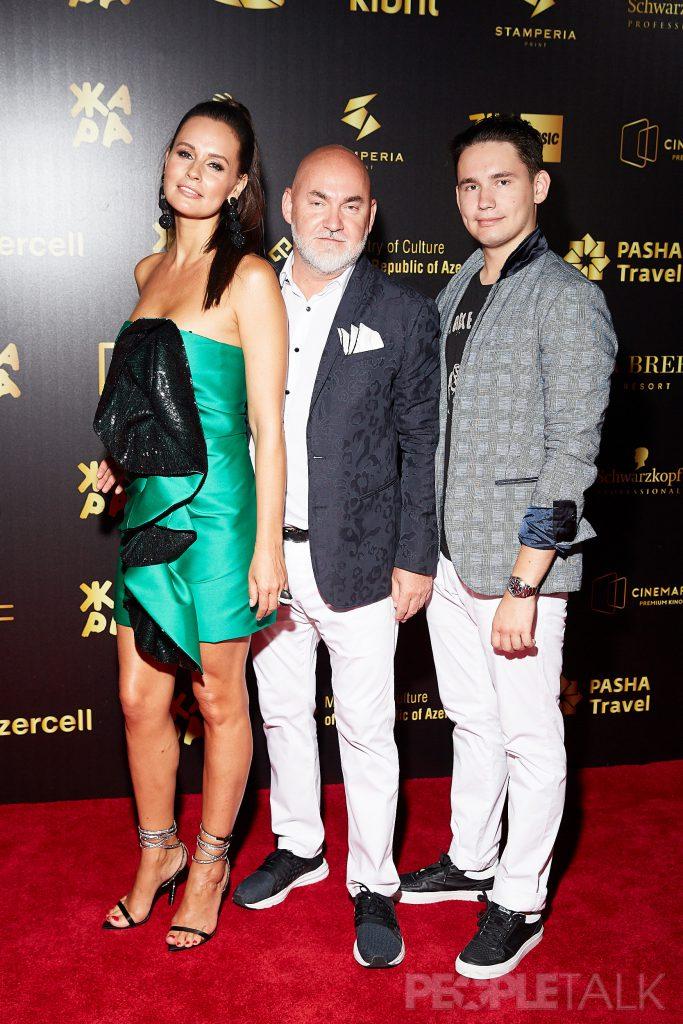 Сергей Кожевников с супругой Екатериной и сыном Тимофеем