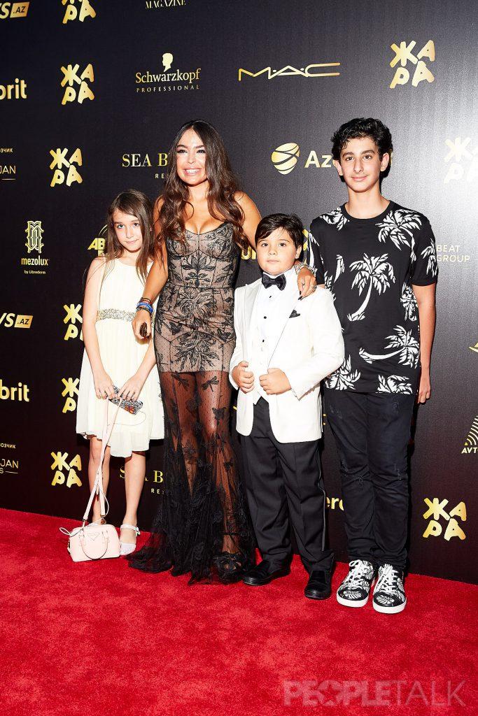 Лейла Алиева с детьми