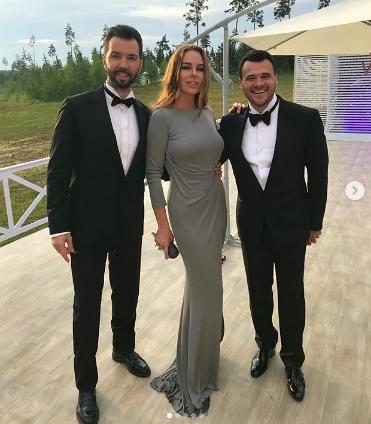 Денис и Ирина Клявер с Эмином Агаларовым