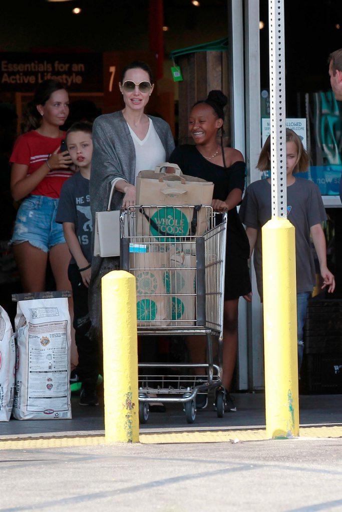 Анджелина Джоли с детьми (Фото: legion-media.ru)