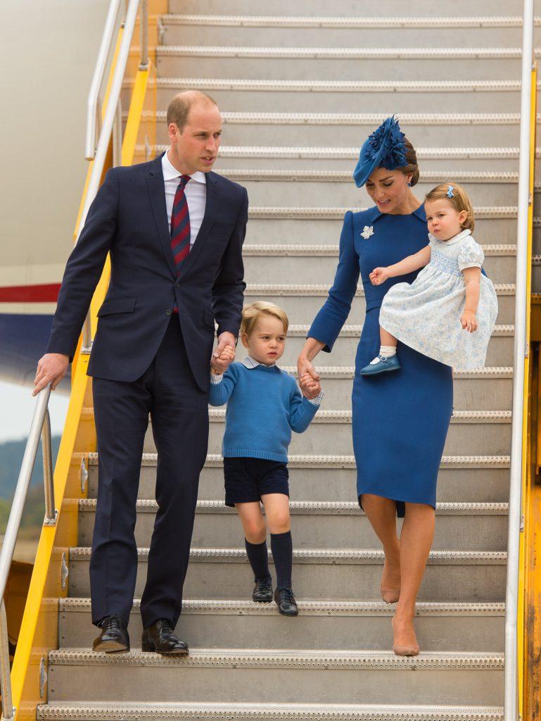 Принц Уильям, принц Джордж, Кейт Миддлтон и принцесса Шарлотта