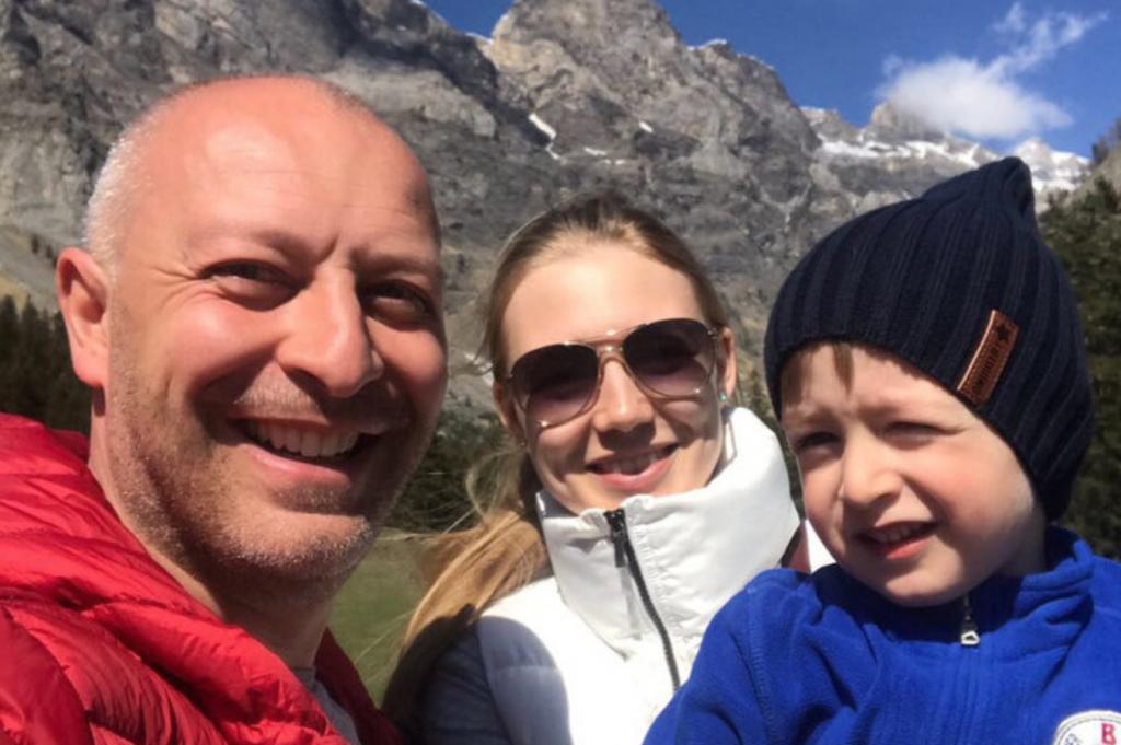 Арчил Геловани и Оксана Акиньшина с сыном