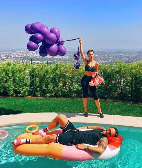 Рэпер T-killah со своей невестой Марией Беловой в Америке
