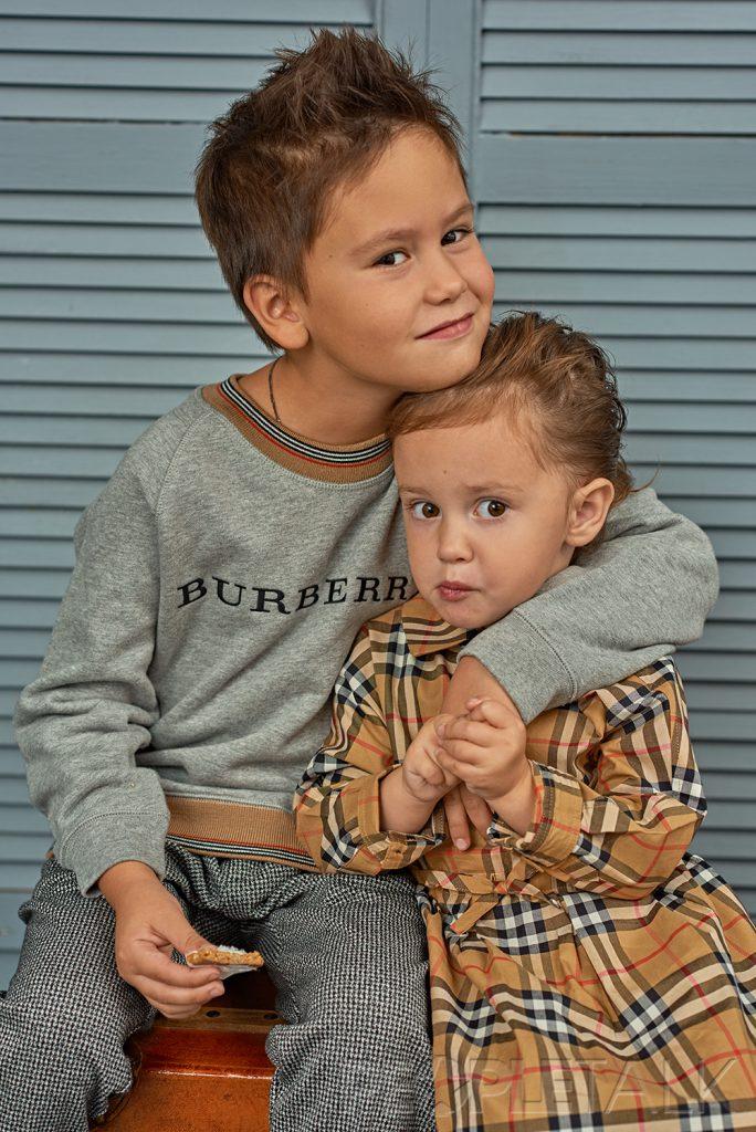Мия и Тимофей Прилучные для бутика детской одежды «Даниэль»
