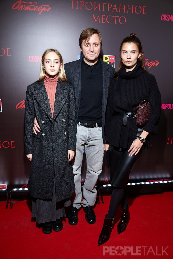 Атем Михалков с дочерью Натальей и Дарья Баженова