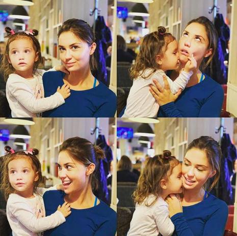 Агата Муцениеце с дочкой Мией (Фото: @agataagata)