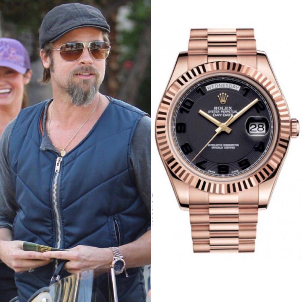 Брэд Питт - Rolex 37 550 долларов (2 440 750 рублей)