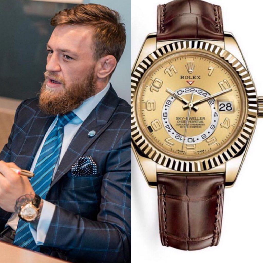 Конор Макгрегор - Rolex 38 150 долларов (2 518 750 рублей)