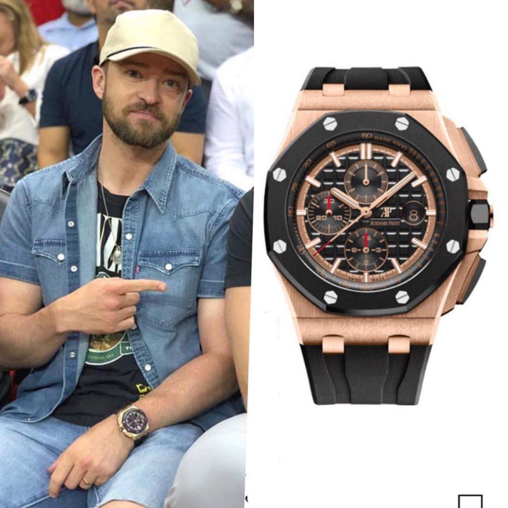 Джастин Тимберлейк - Audemars Piquet 46 тысяч долларов (2 990 000 рублей)