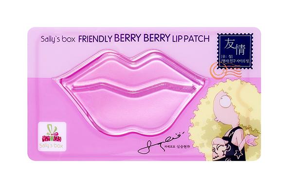 Патч для губ с ягодами, Sally's Box за раз восстановит даже потрескавшиеся и обветренные губы!