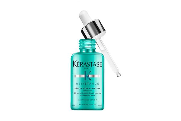 Сыворотка Kérastase для укрепления волос и усиления их роста Extentioniste активирует спящие луковицы и поможет добиться заметного объема.