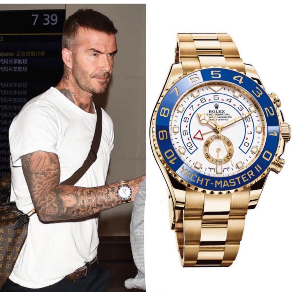 Дэвид Бекхэм - Rolex 43 550 долларов (2 830 750 рублей)