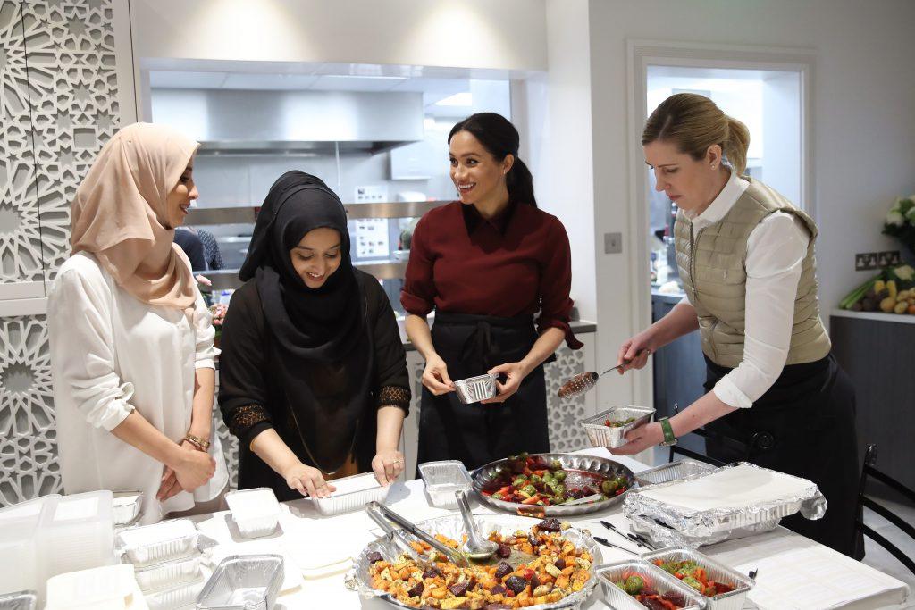 Меган Маркл с основательницами Hubb Community Kitchen