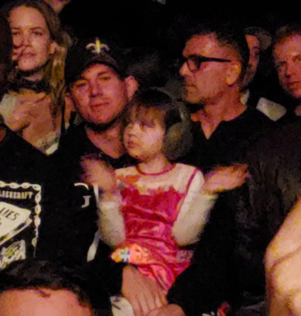Ченнинг Татум и дочка на концерте