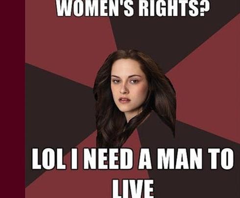 «Женские права? Лол! Мне нужен мужчина, чтобы выжить»