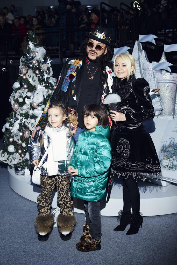 Филипп Киркоров с дочерью Аллой-Викторией и сыном Мартином и Яна Рудковская