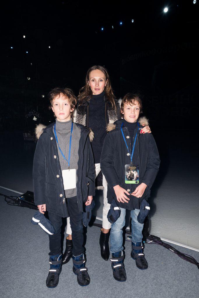 Маргарита Лиева с сыновьями