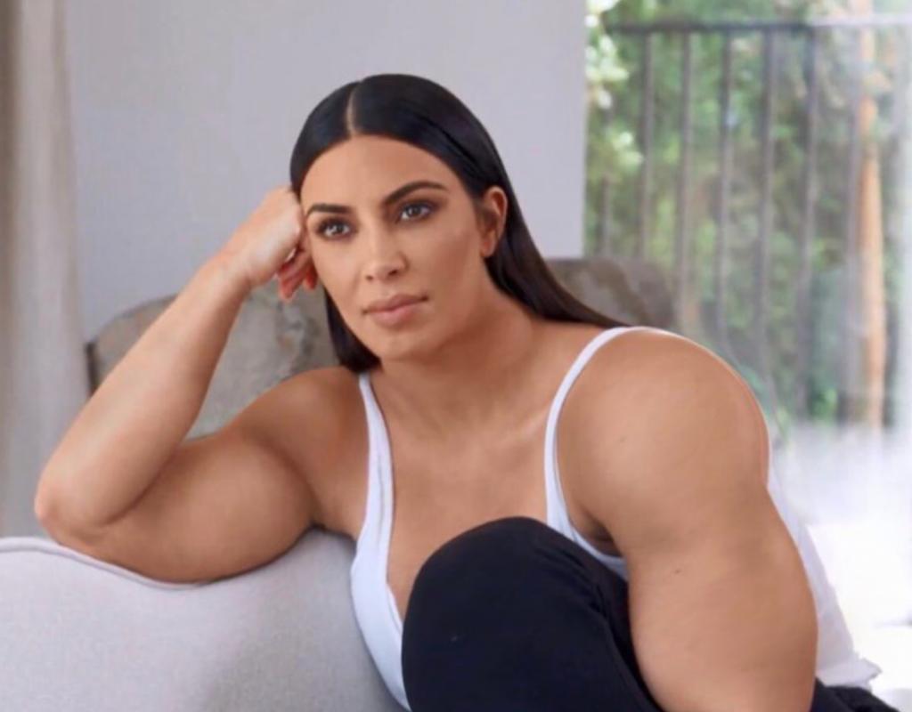 Ким с мускулами