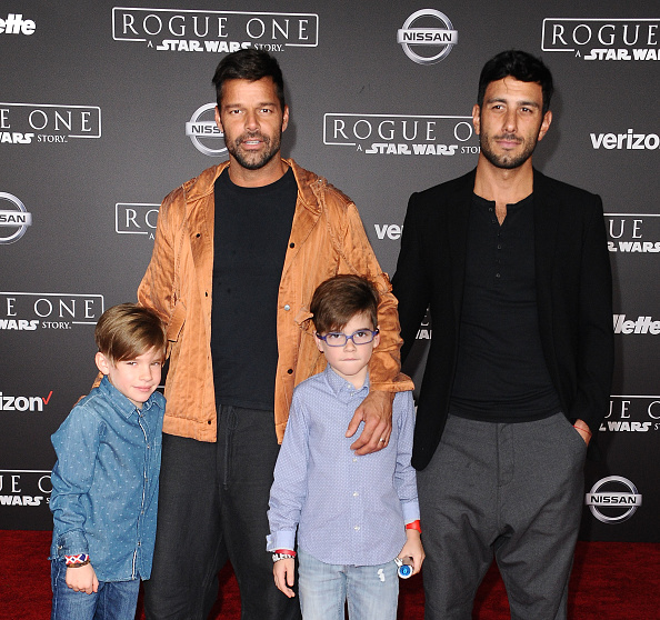 Рики Мартин и Джван Йосеф с сыновьями