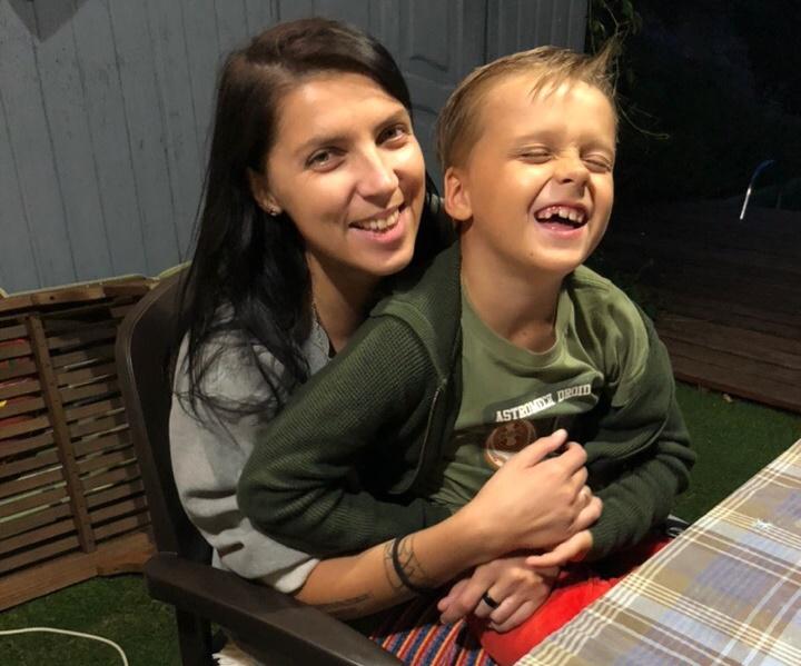 Полина с сыном