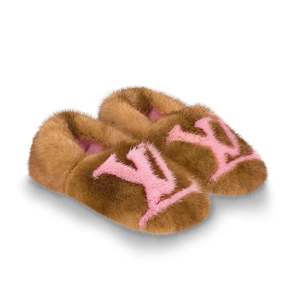 Меховые тапочки Louis Vuitton, 116000 p.