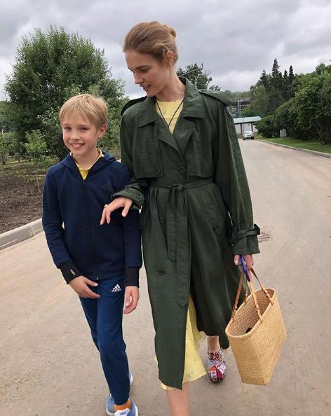Наталья Водянова с сыном Виктором