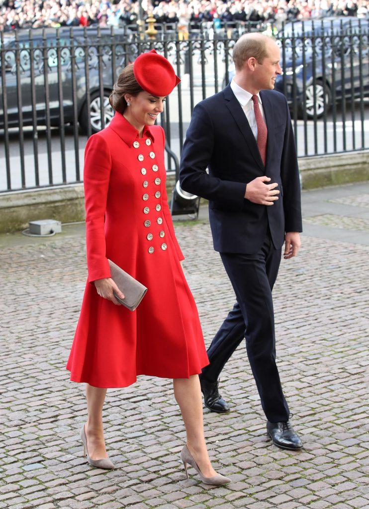 Кейт Миддлтон и принц Уильям в марте 2019