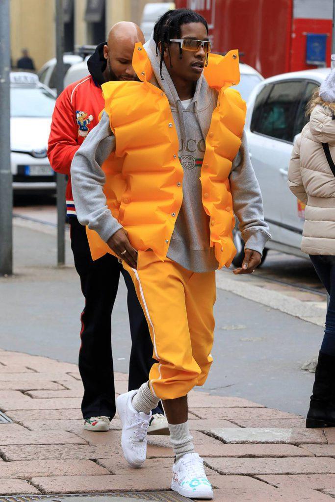 A$AP Rocky в Gucci и Balenciaga