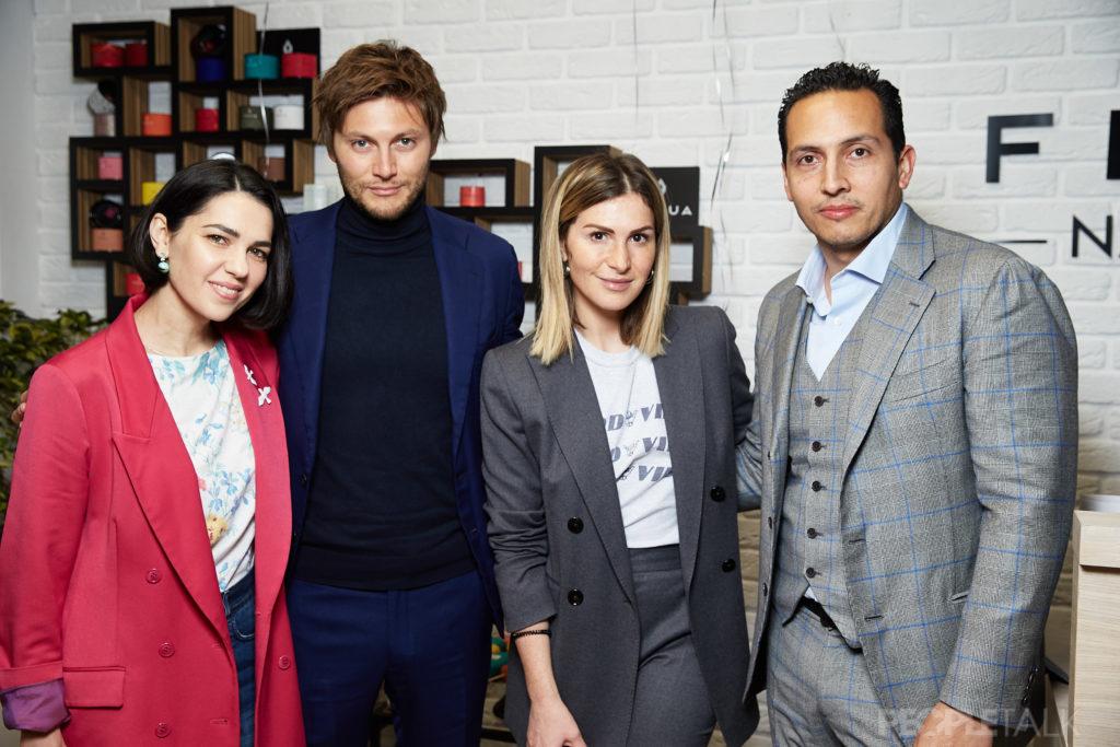 Снежина Кулова, основатель Fedua Лука Гонзини, Лаура Джугелия и основатель Beauty Story Айзек Морено