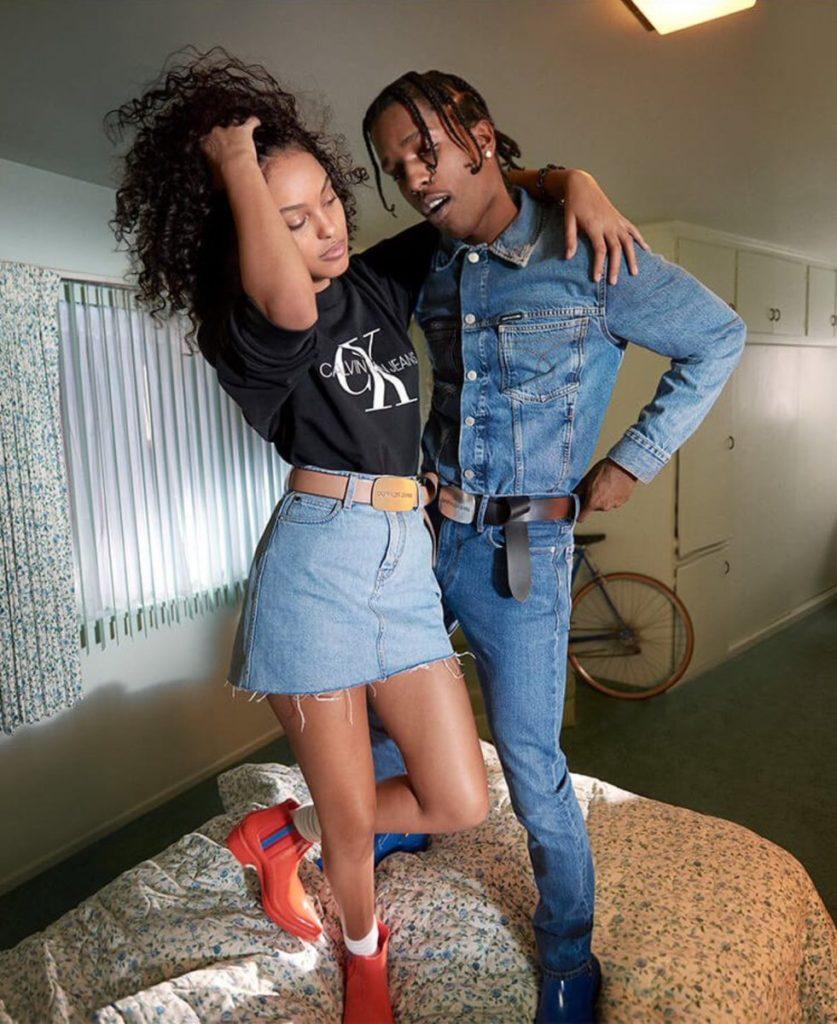 Жасмин и A$AP Rocky в рекламной кампании Calvin Klein