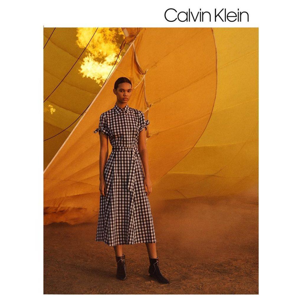 Дордан в рекламной кампании Calvin Klein