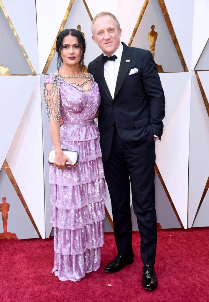 Франсуа Анри-Пино с женой Сальмой Хайек