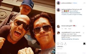 Первое фото с фанатом! Сын Роузи Хантингтон-Уайтли и Джейсона Стэтхема завоевывает Instagram