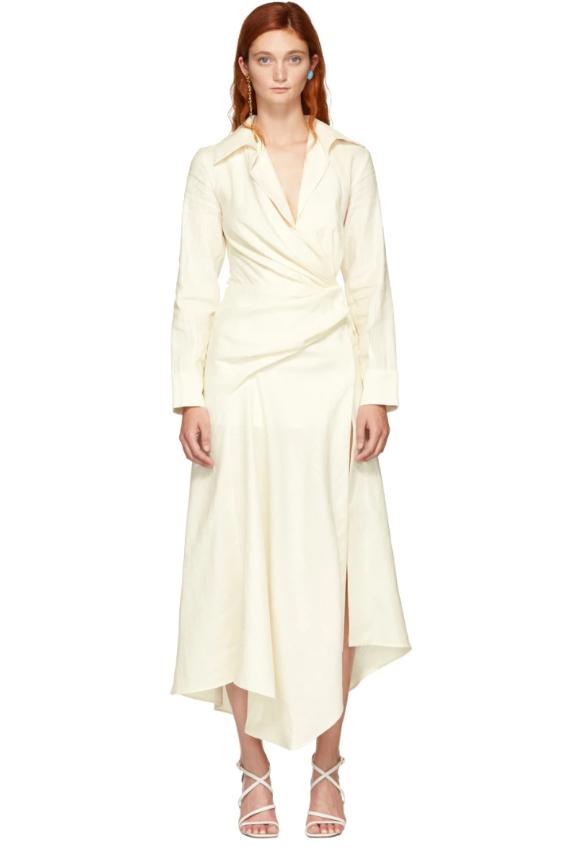 Платье Jacquemus, $399 (ssense.com). Сейчас бы в этом платье да на лазурный берег!